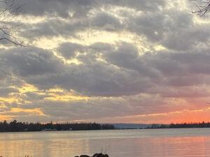 late fall, Lake Huron